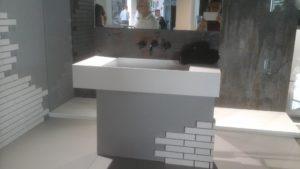 Mobile bagno realizzato in dekton