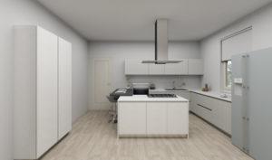 Cucina su Misura in Legno laccato bianco okite bianco claudia2
