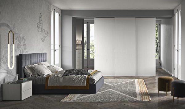 cinquepuntozero spazio notte armadio scorrevole camera bianco