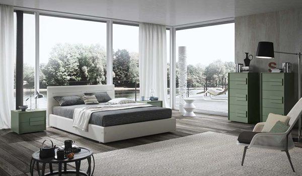 cinquepuntozero spazio notte camera da letto dettagli verdi 1