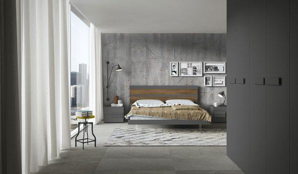 cinquepuntozero spazio notte camera da letto grigio