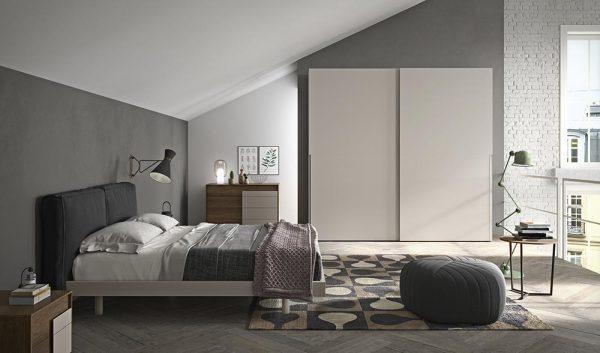 cinquepuntozero spazio notte camera letto con armadio scorrevole1