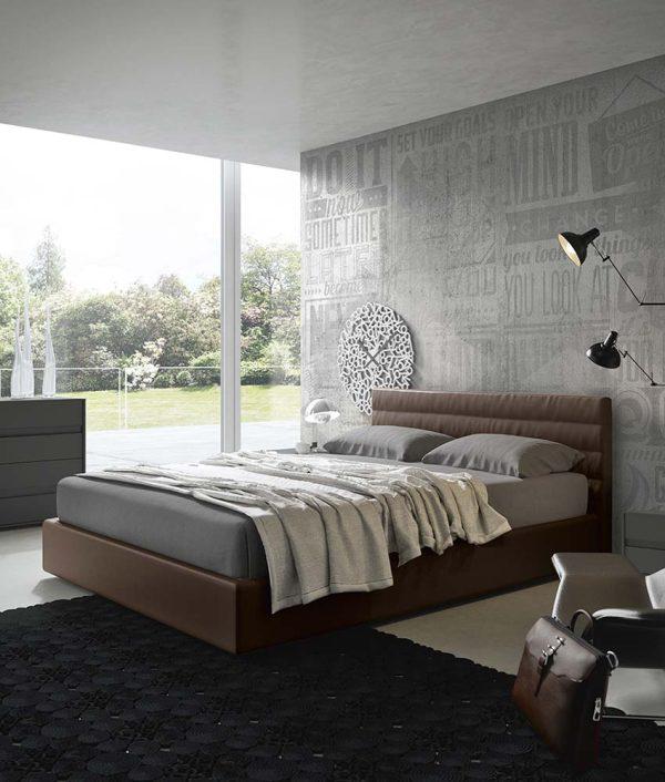 cinquepuntozero spazio notte letto marrone camera