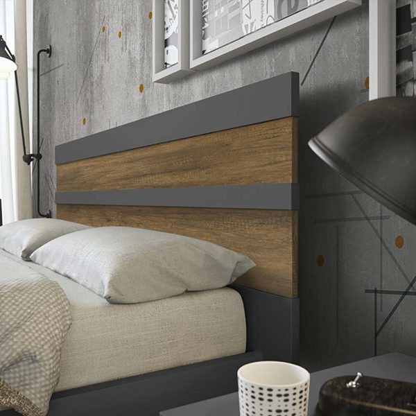 cinquepuntozero spazio notte testata letto in legno